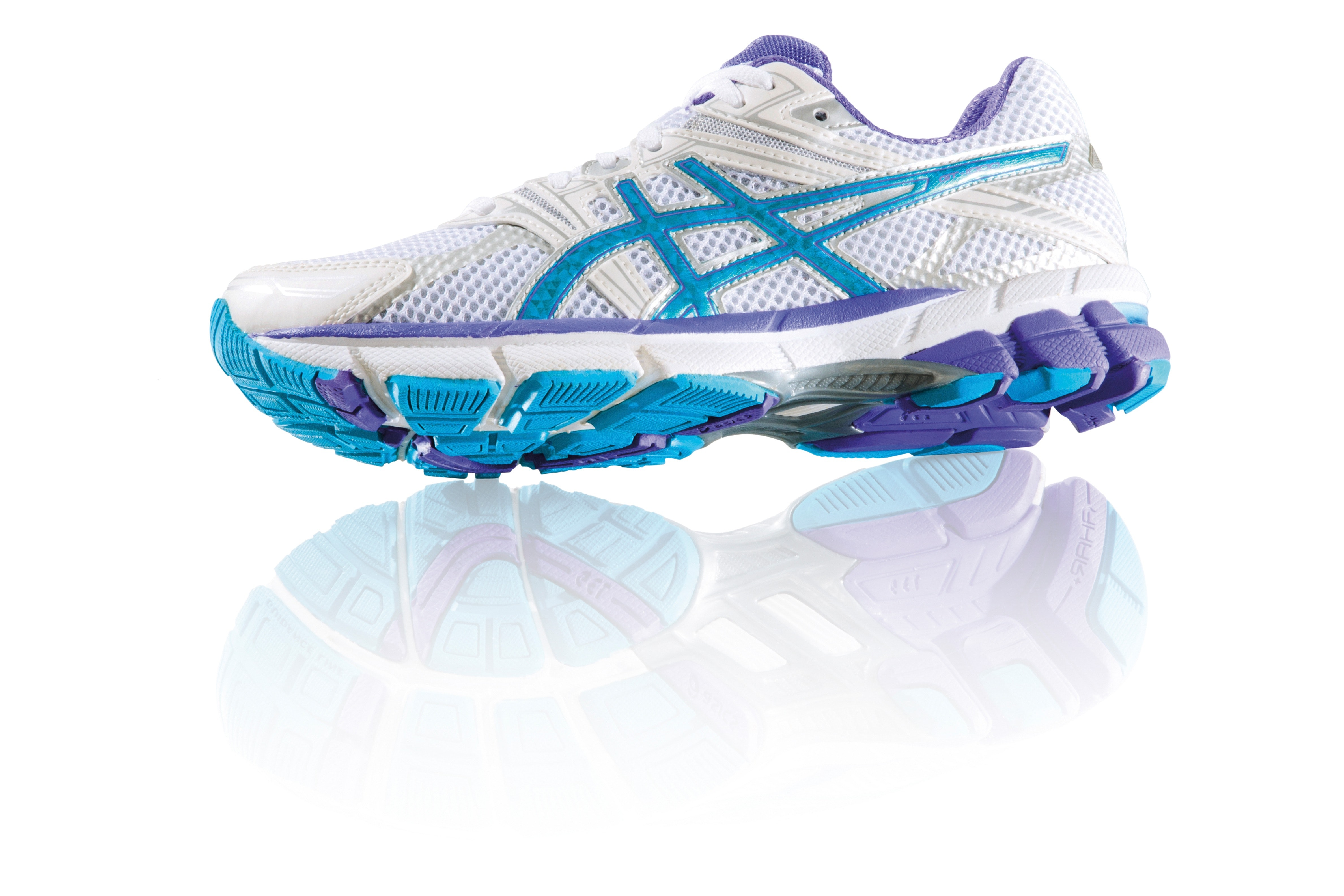 Vita jogging skor